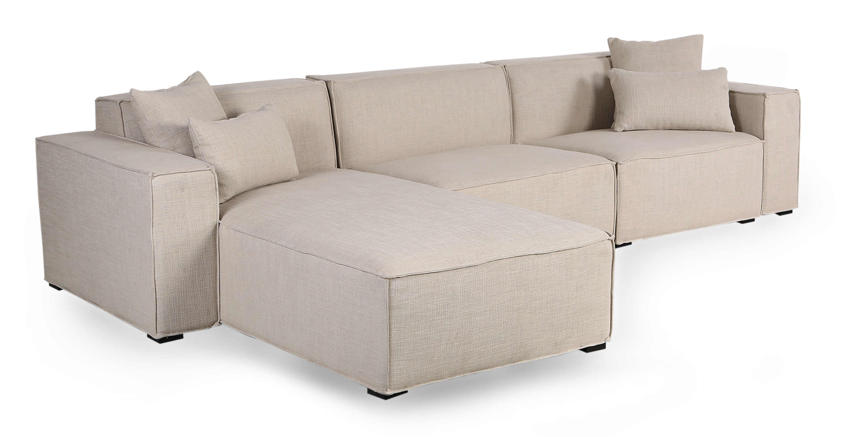 "Modus 118"" Fabric Sofa Sectional Left, Urban Hemp"