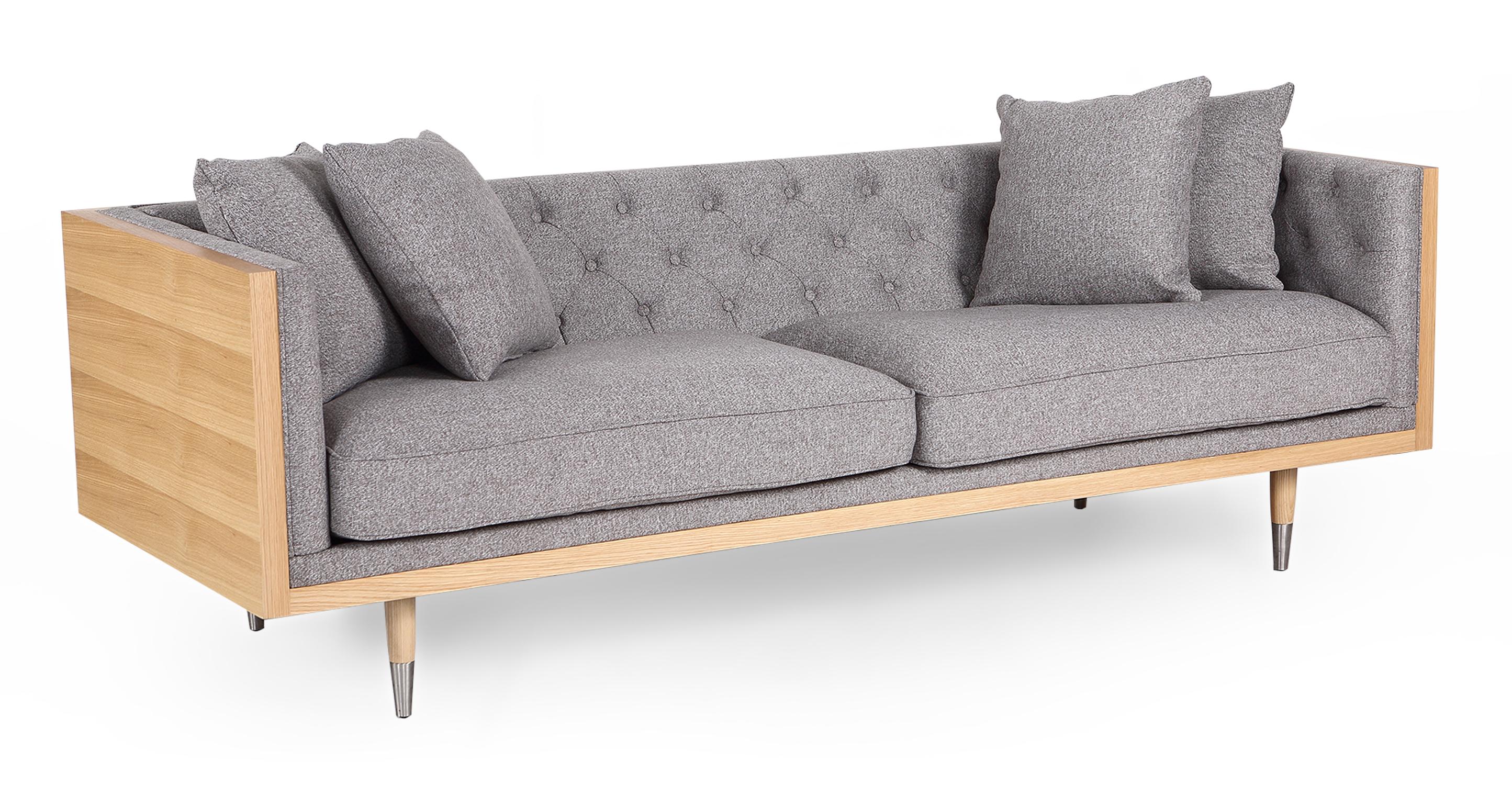 "Woodrow Neo 87"" Fabric Sofa, Ash/Urban Pebble"