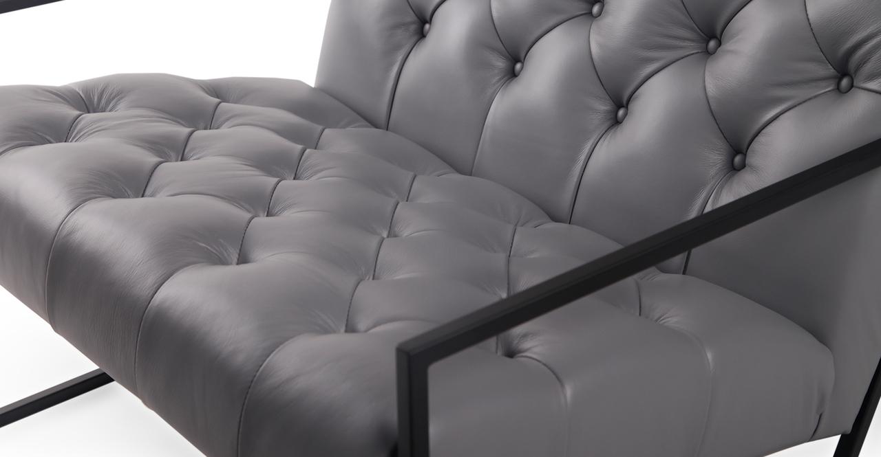 Lawson Chair, Seal Grey / Black