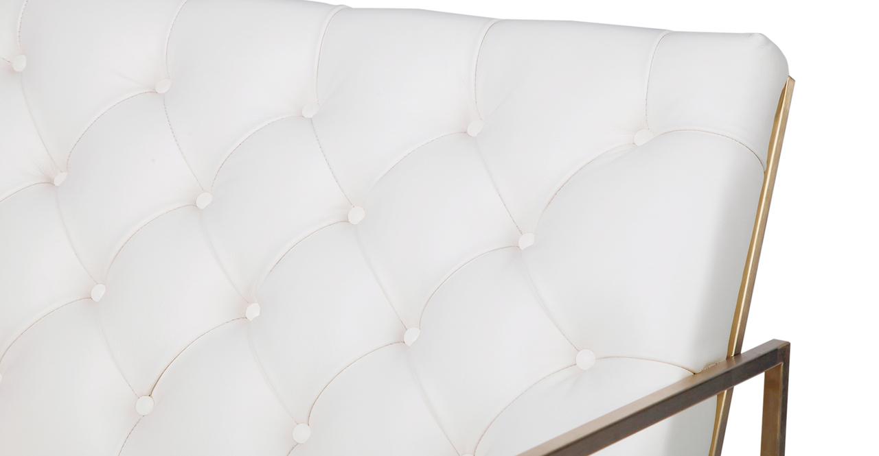 Lawson Chair, Cream Aniline / Gold