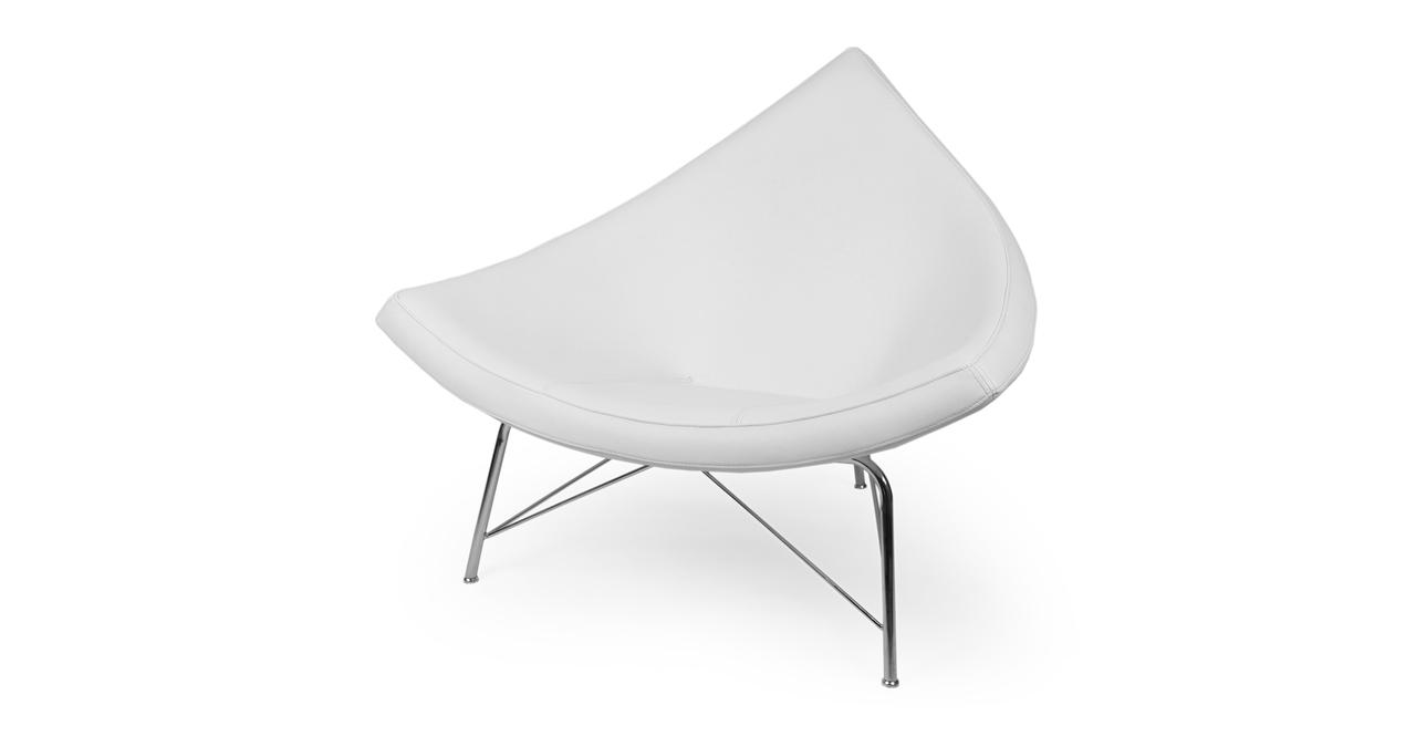 Coconut Chair, Ecume White Premium Leather