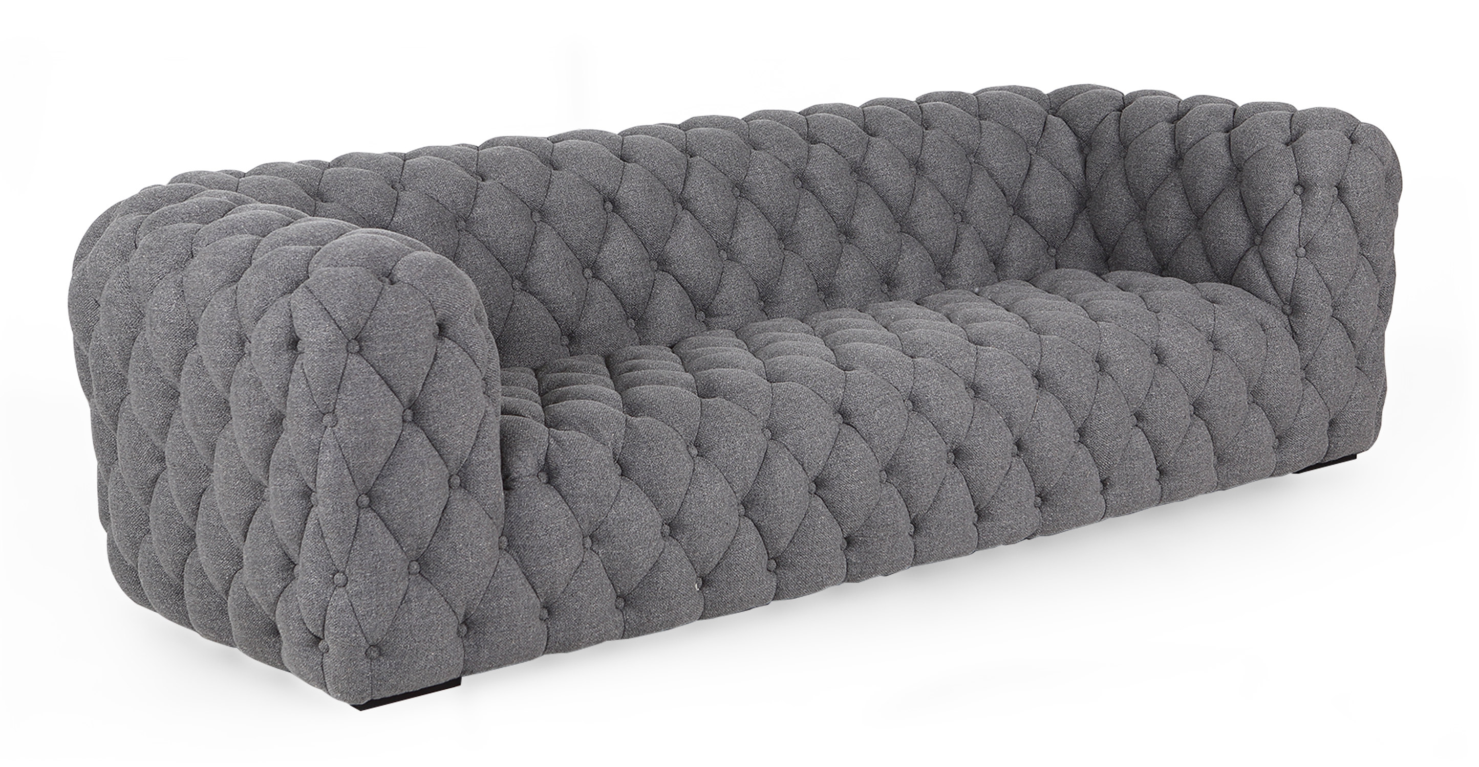 "Cumulus 98"" Fabric Sofa, Varsity Grey"