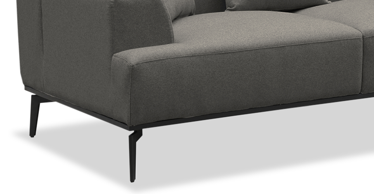 "Sherman 97"" Fabric Sofa, Cadet Grey"