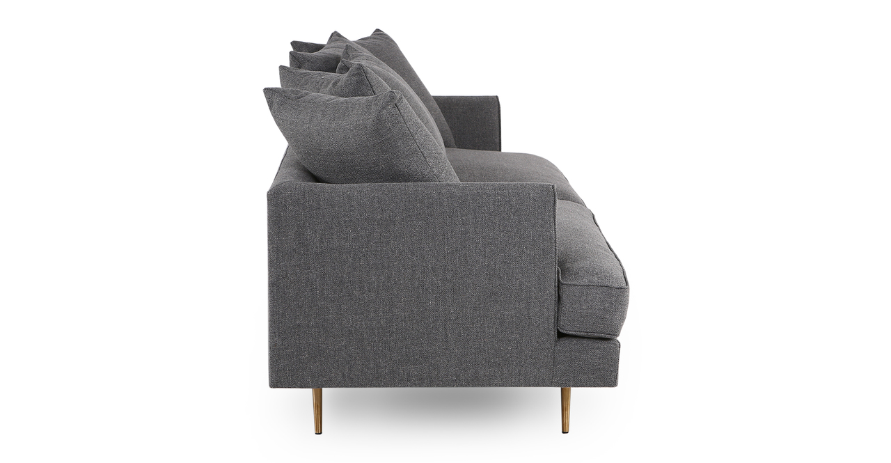 "Holly 82"" Fabric Sofa, Varsity Grey"