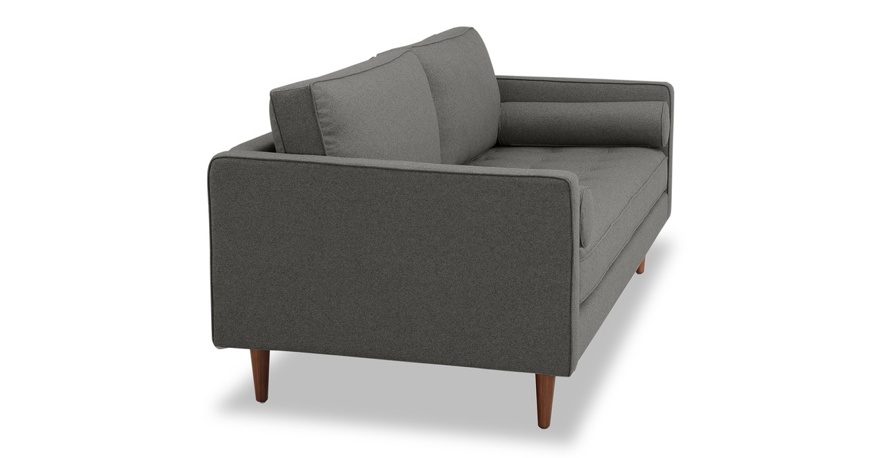 """Elle 88"""" Fabric Sofa, Cadet Grey Wool"""