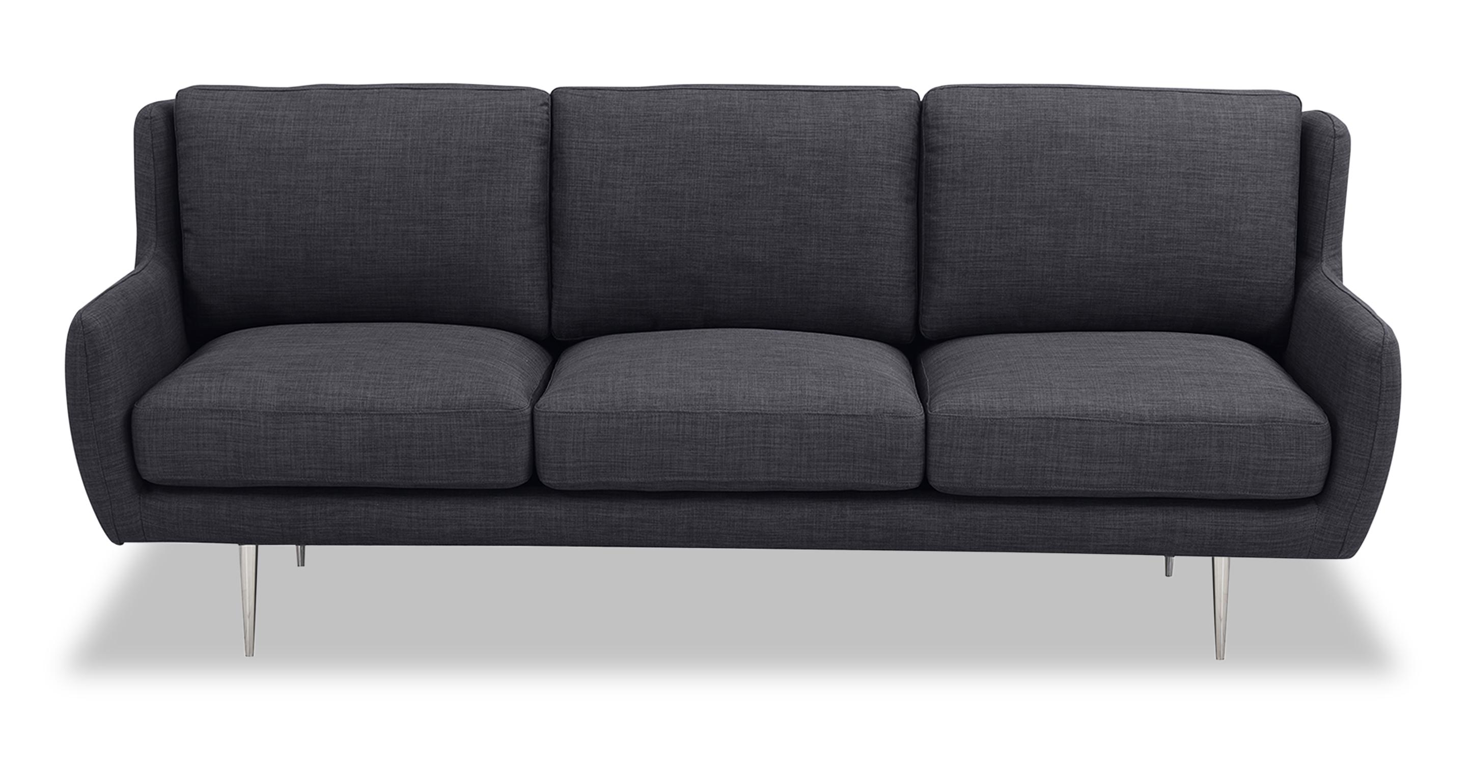 "Nico 78"" Fabric Sofa, Midnight Oil"
