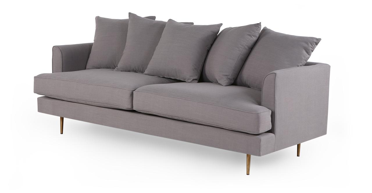 "Holly 82"" Fabric Sofa, Haze Pewter"