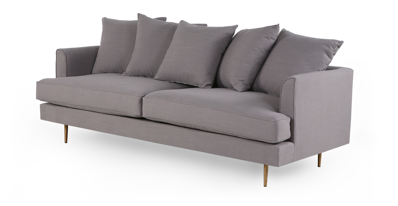 "Holly 82"" Fabric Sofa, Haze Pewter"