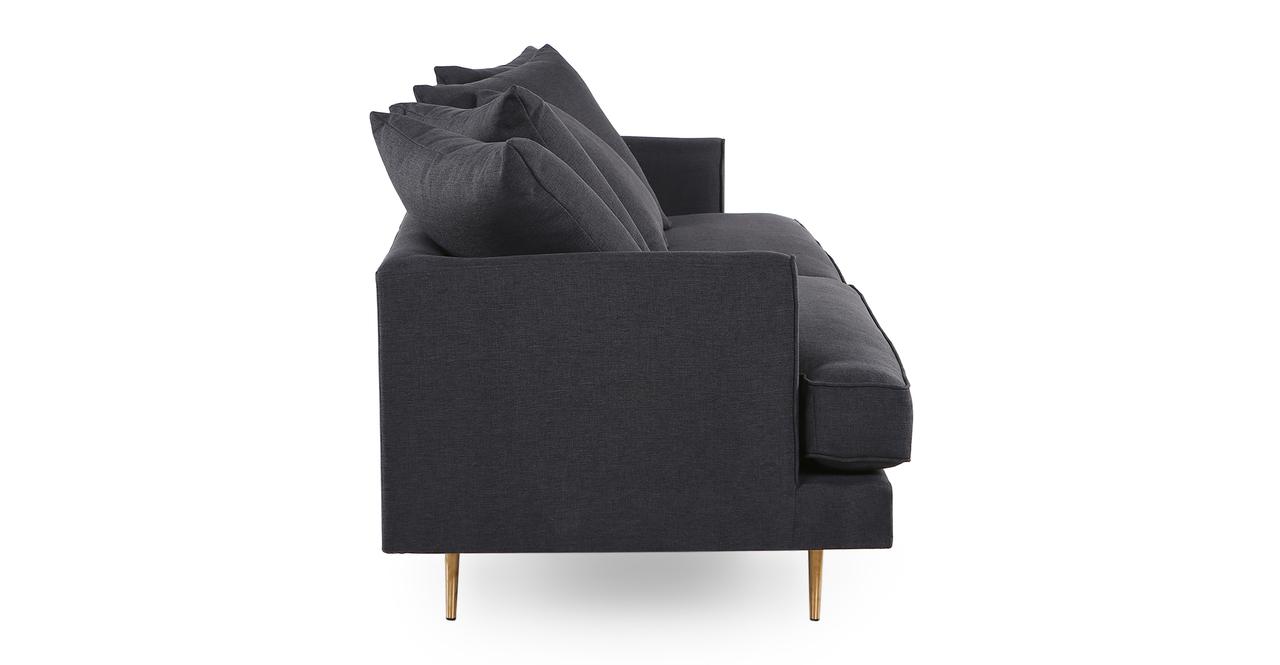 "Holly 82"" Fabric Sofa, Urban Ink"