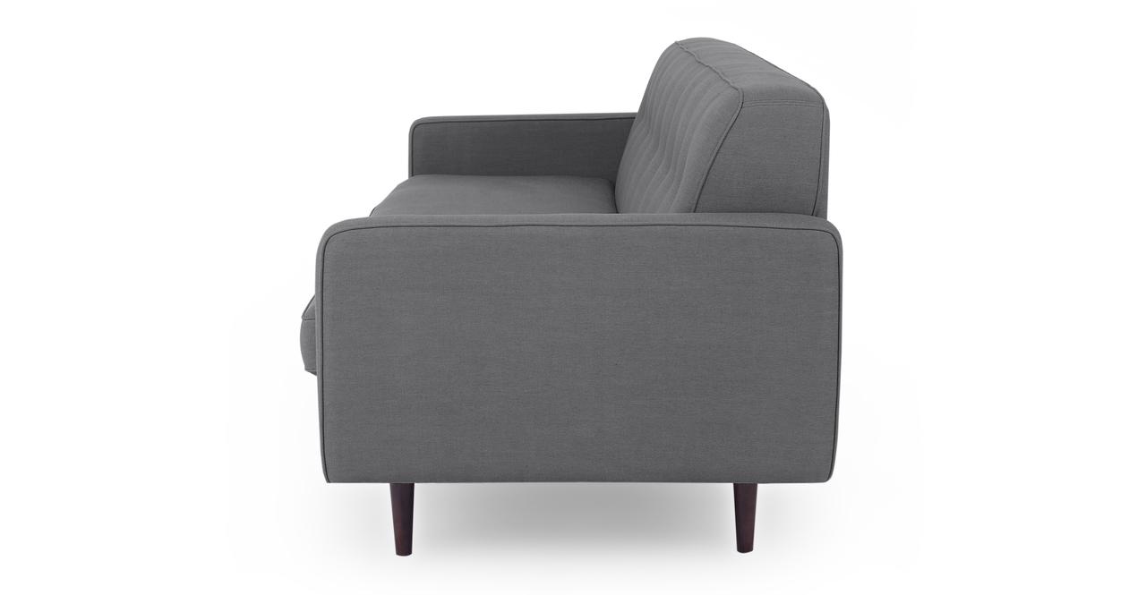 """Eleanor 85"""" Fabric Sofa,  Gun Metal Twill"""