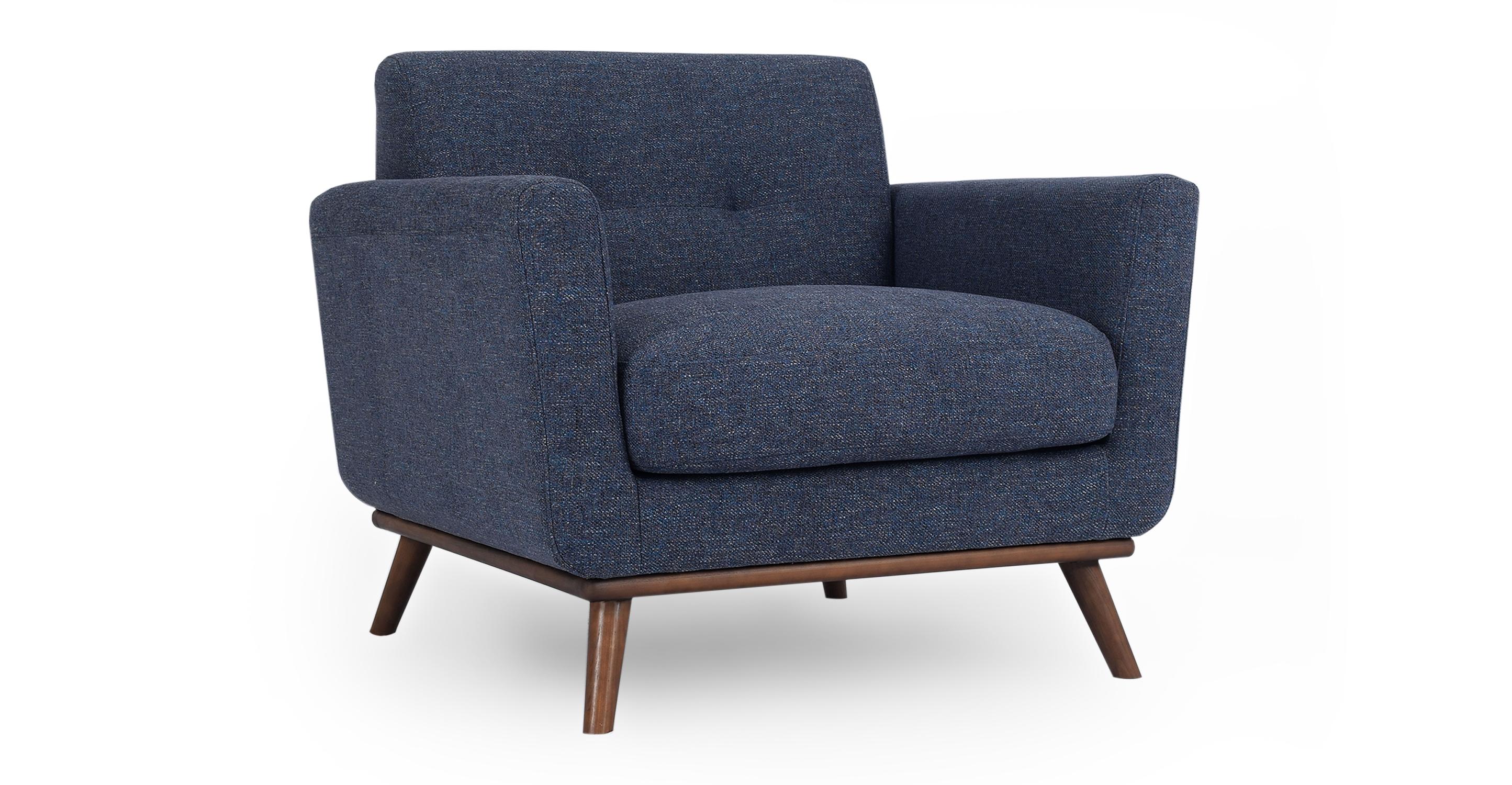 """Jackie 38"""" Fabric Armchair, Jagar"""