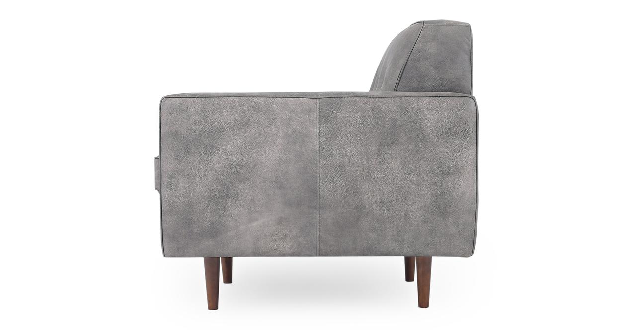 "Eleanor 35"" Leather Chair,  Elefante Full Grain Aniline"
