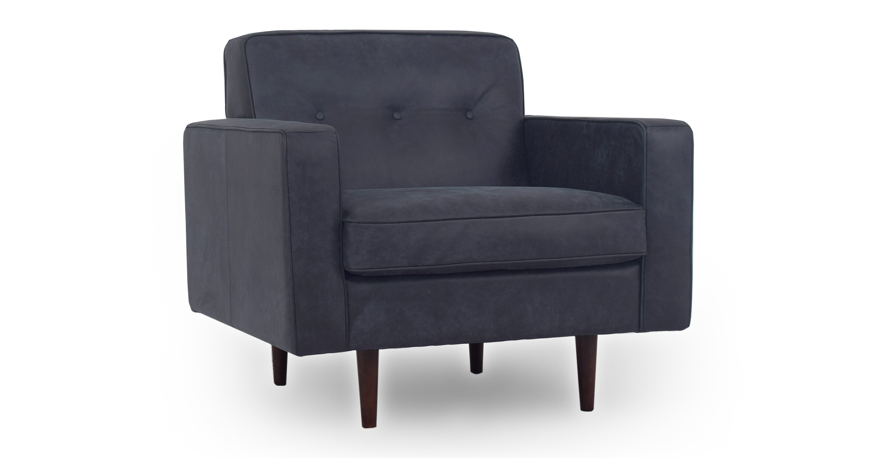 """Eleanor 35"""" Leather Chair, Night"""