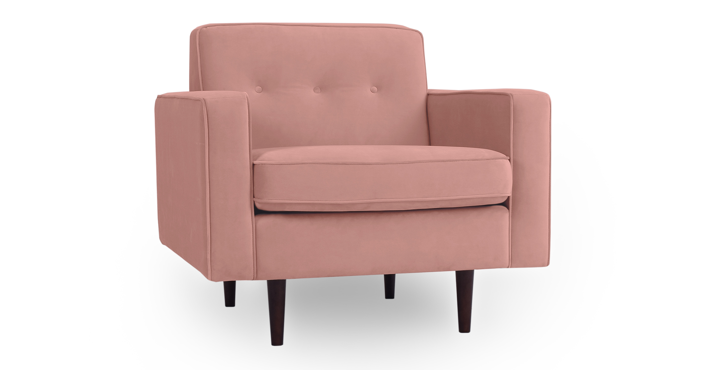 "Eleanor 35"" Fabric Chair, Cosmo Velvet"
