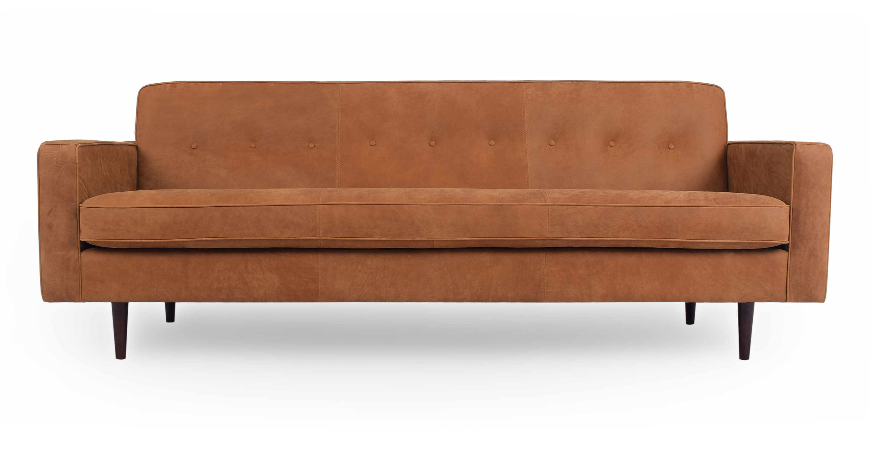 "Eleanor 85"" Leather Sofa, Cognac"