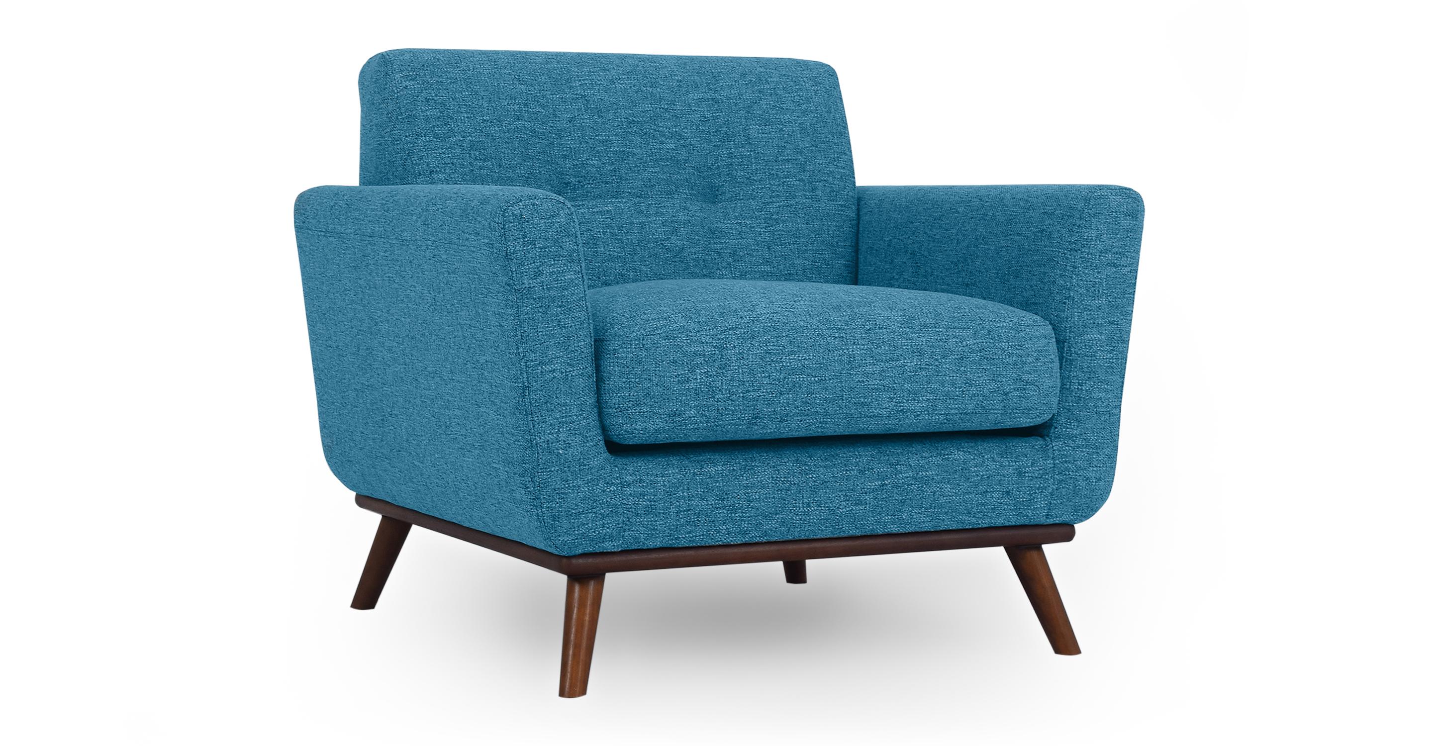 """Jackie 38"""" Fabric Armchair, Bliss"""