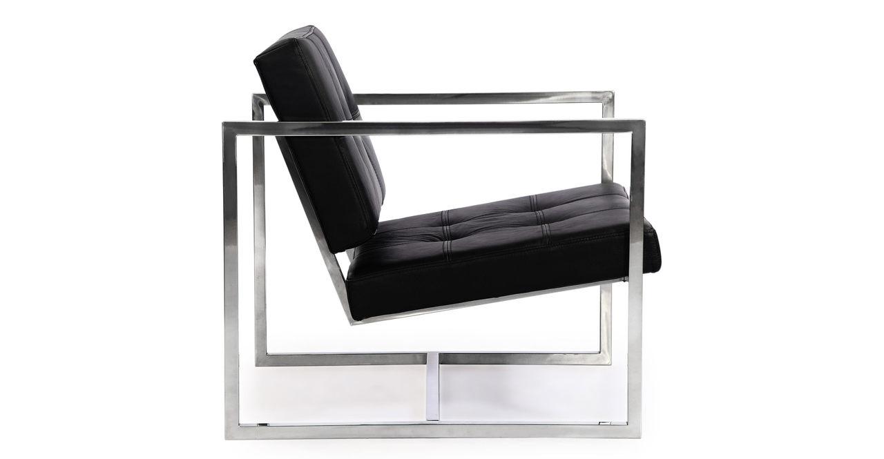 Cube Chair, Black Premium Leather