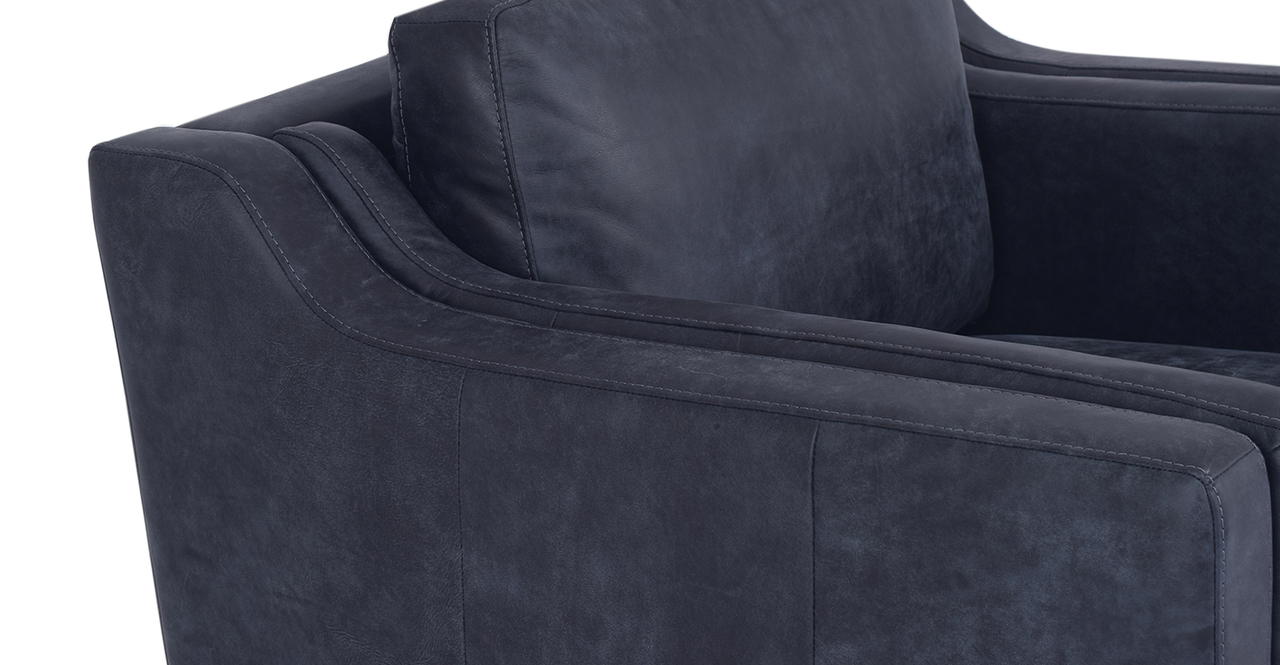 "Monroe 39"" Leather Chair, Night Full Grain Aniline"