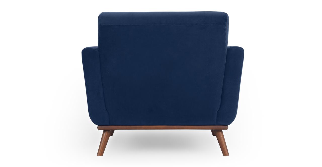"""Jackie 38"""" Fabric Armchair,  Royal Blue Velvet"""