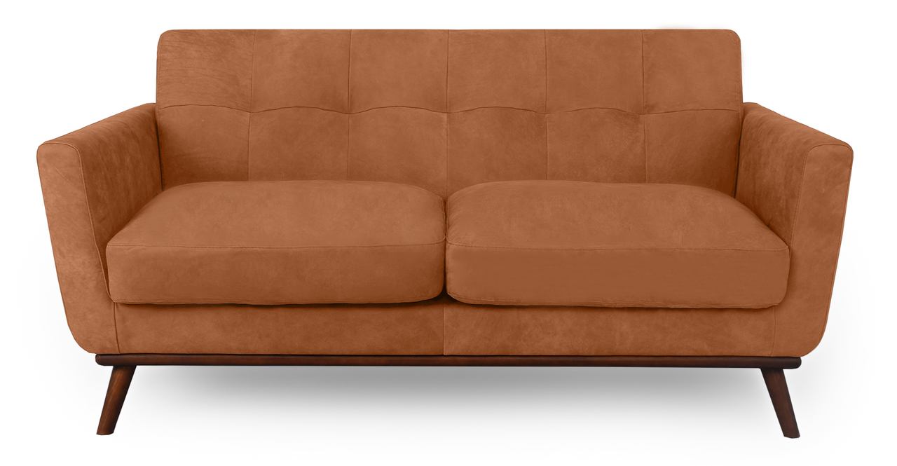 "Jackie 67"" Sofa Leather, Cognac"
