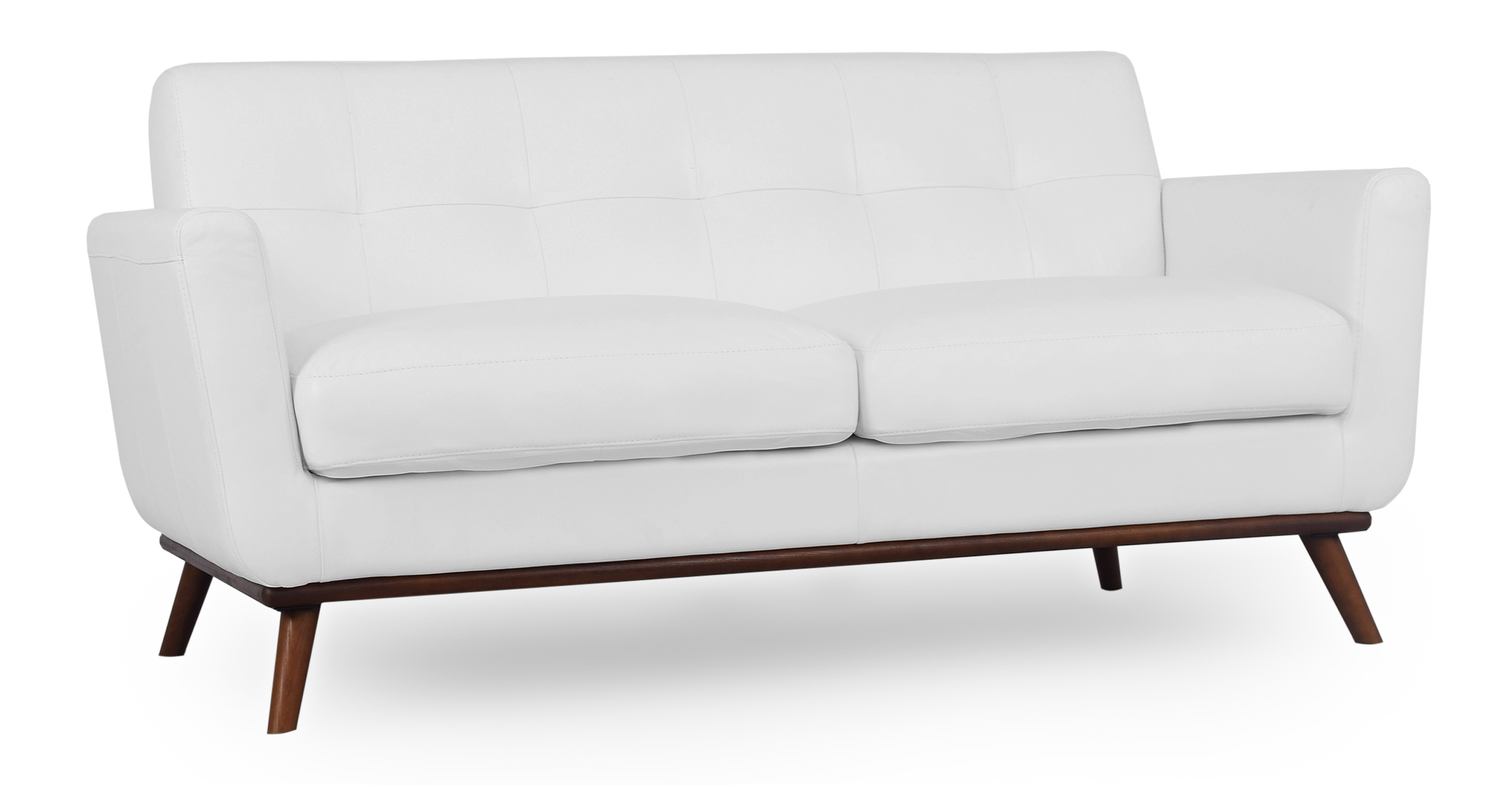 "Jackie 67"" Sofa Leather, White"