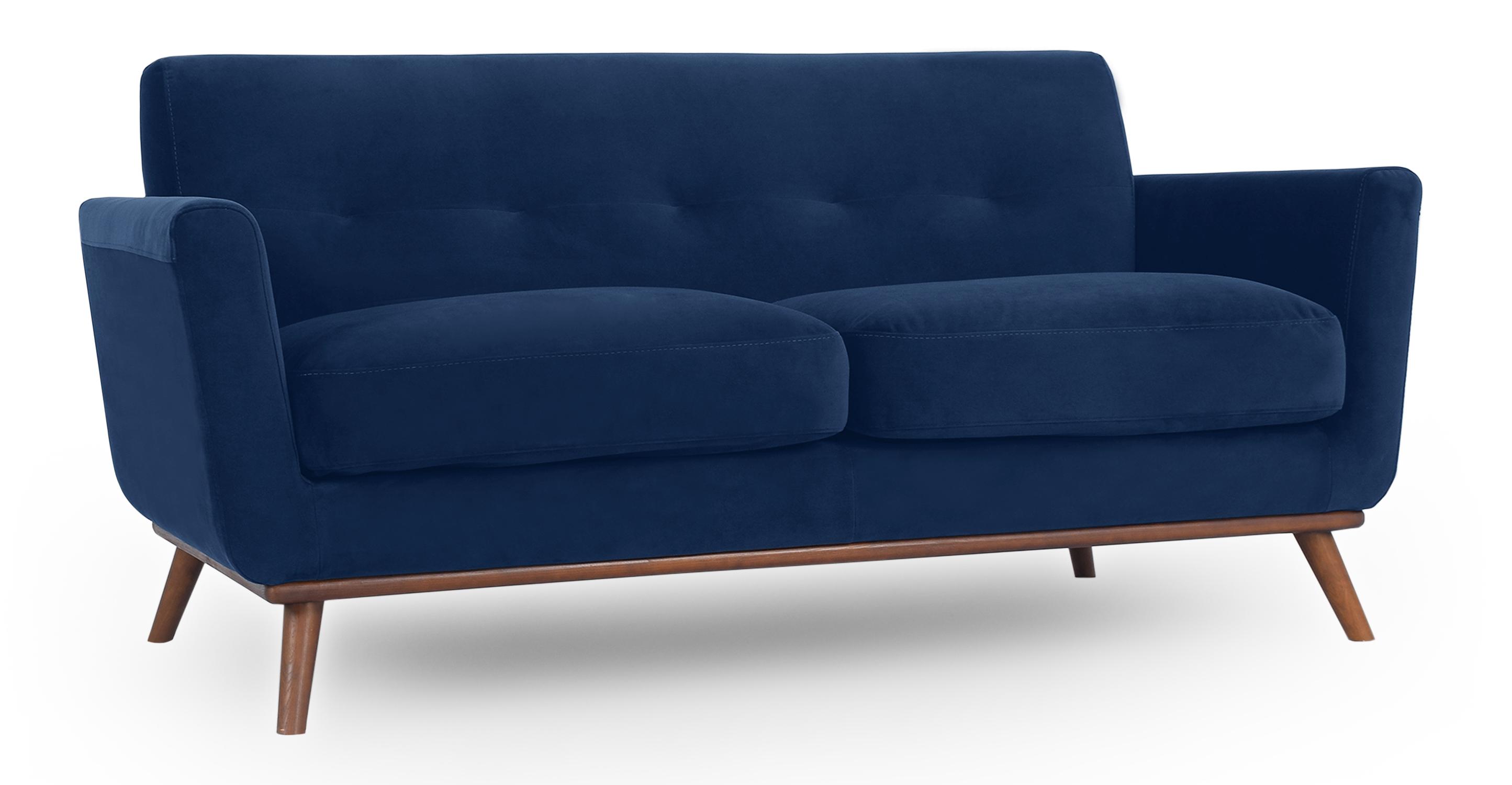 "Jackie 67"" Fabric Sofa, Royal Blue Velvet"