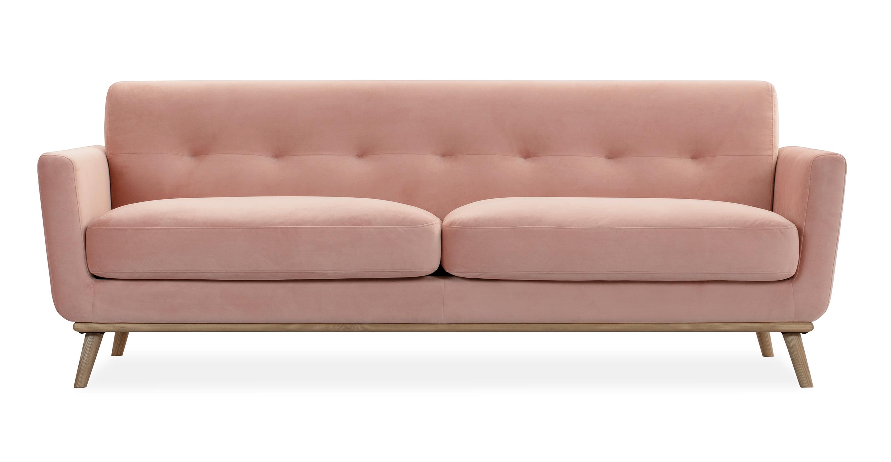 """Jackie 88"""" Fabric Sofa, Cosmo Velvet"""
