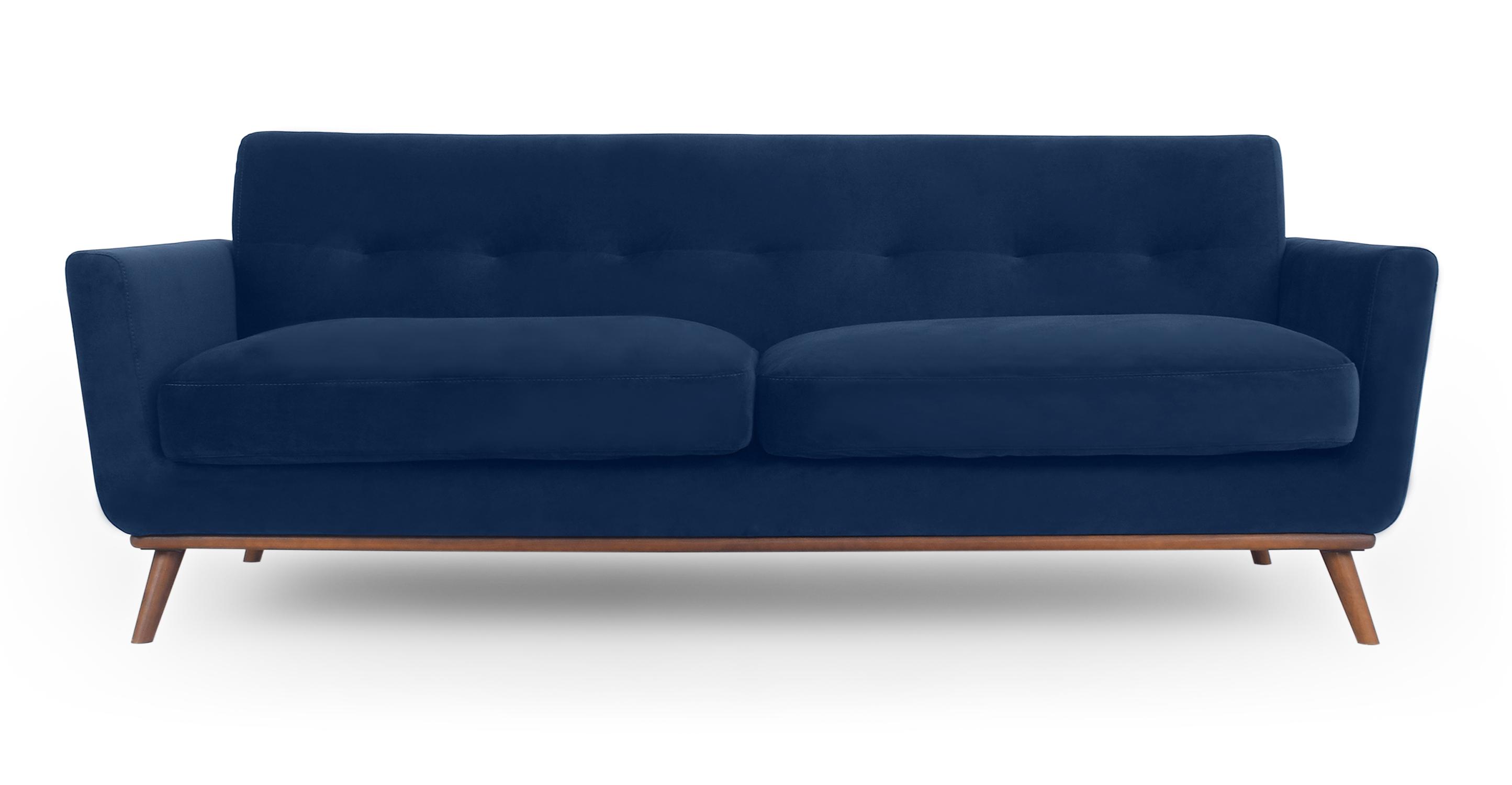 "Jackie 88"" Fabric Sofa, Royal Blue Velvet"