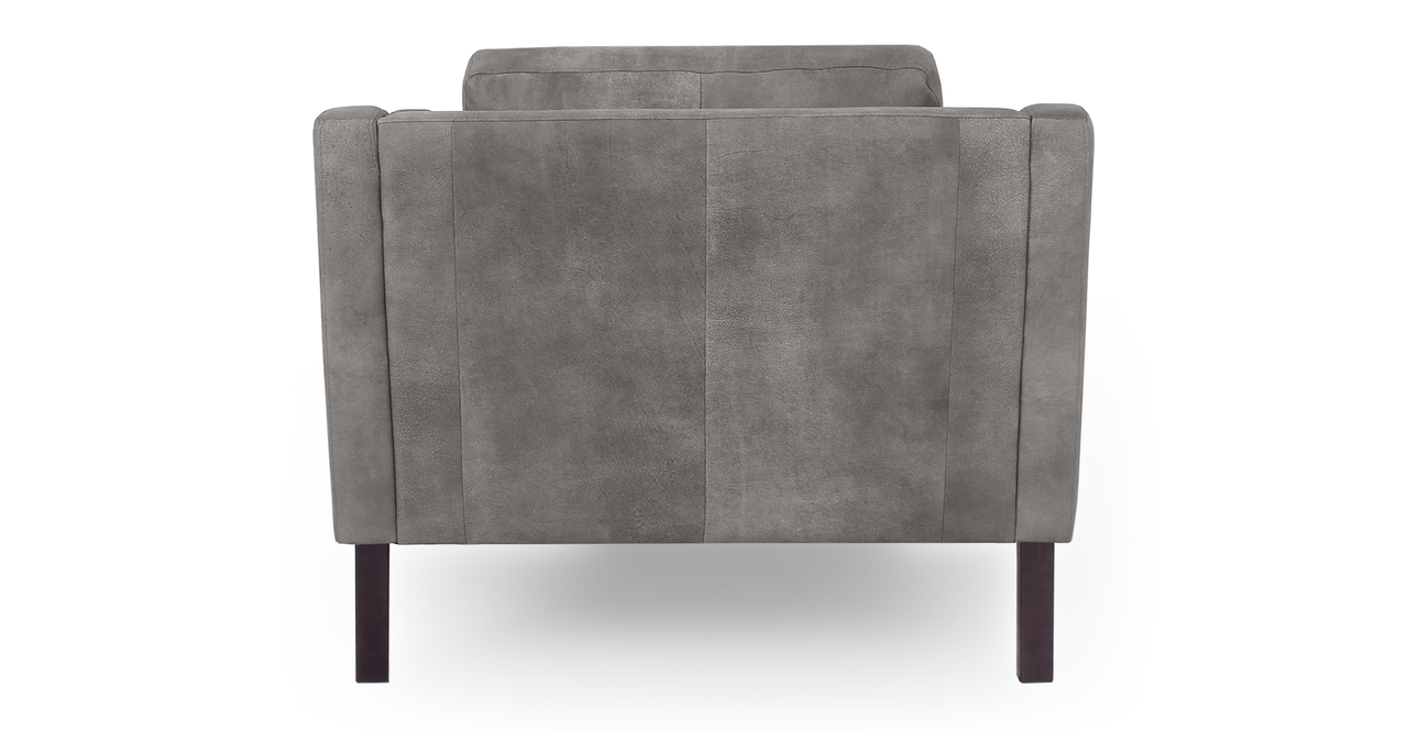 "Monroe 39"" Leather Chair, Elefante Full Grain Aniline"