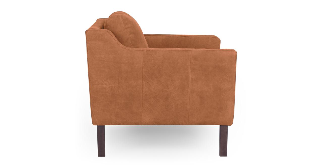 "Monroe 39"" Leather Chair, Cognac Full Grain Aniline"