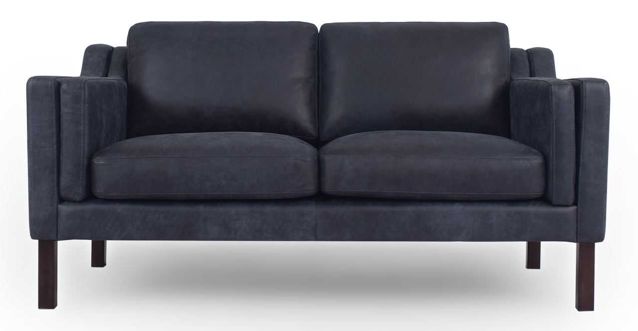 "Monroe 63"" Leather Sofa, Night Full Grain Aniline"