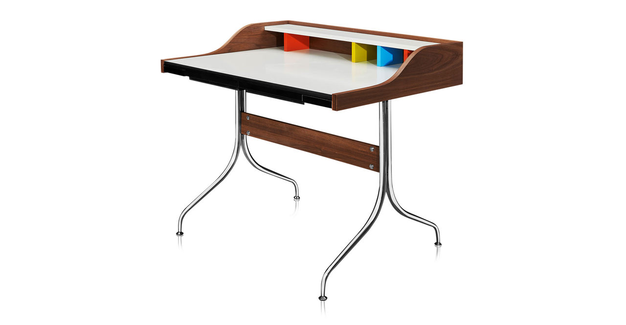 "Swag 39"" Leg Desk, Walnut"