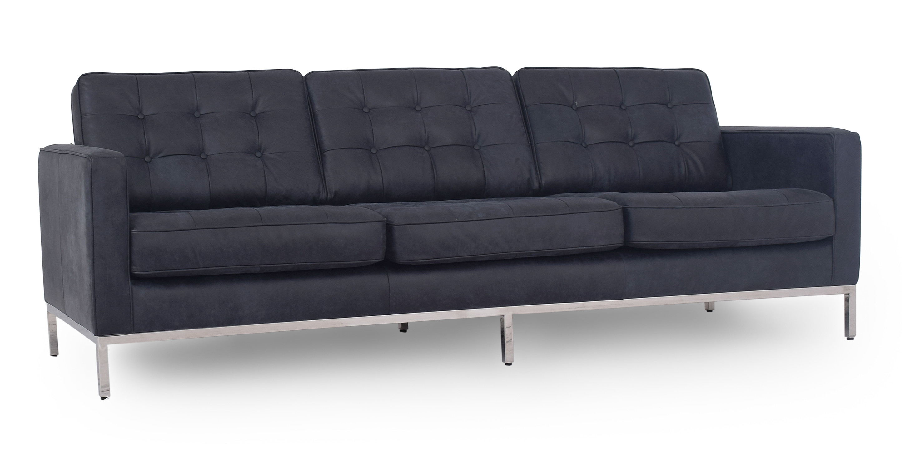 "Florence 89"" Leather Sofa, Night"