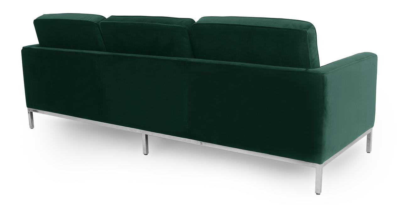 """Florence 89"""" Fabric Sofa, Forest Velvet"""