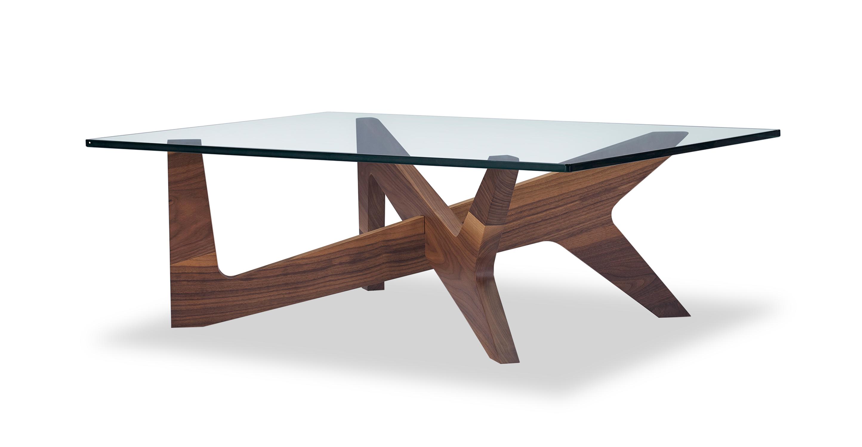 "Crossbow 43"" Coffee Table, Walnut"