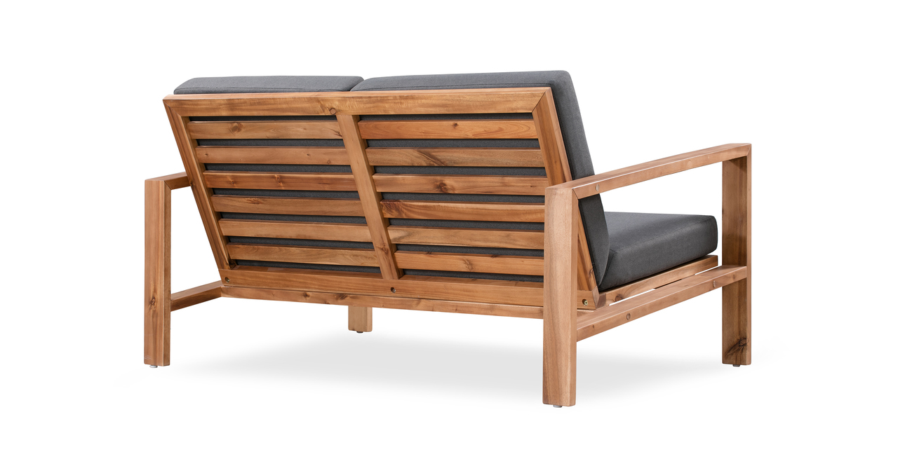 Aegean 4-pc Solid Wood Outdoor, Dark Grey