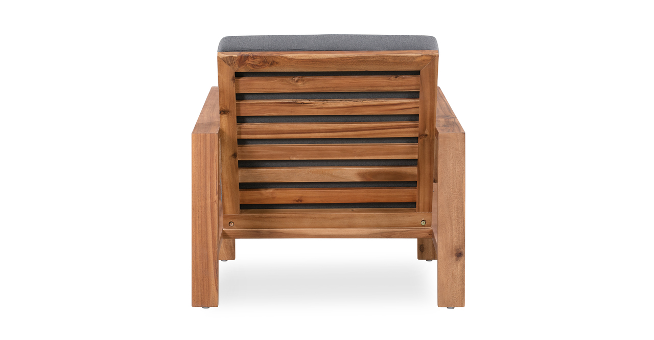 Aegean 8-pc Solid Wood Outdoor, Dark Grey