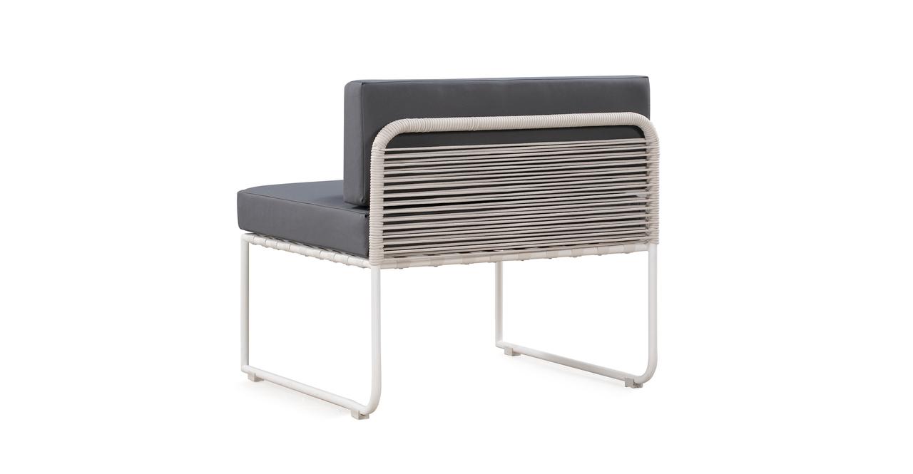 Curbed Outdoor Glaston 9-pc set, Grey/White
