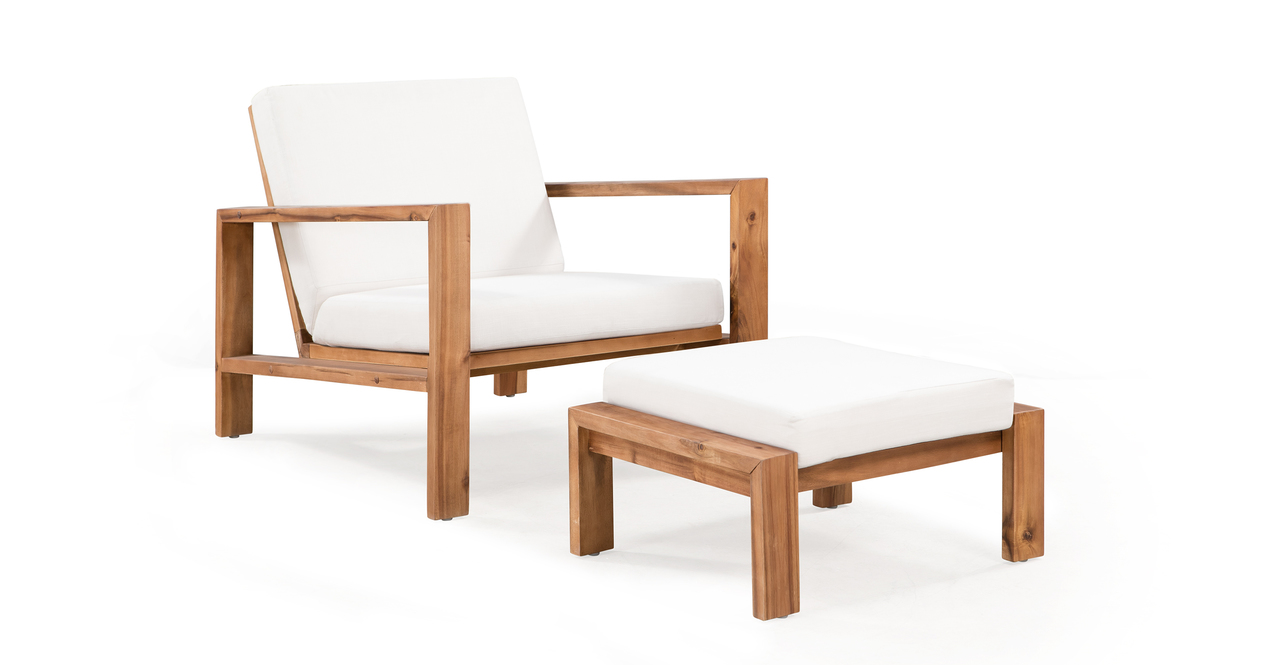 Aegean 5-pc Solid Wood Outdoor,  Cream