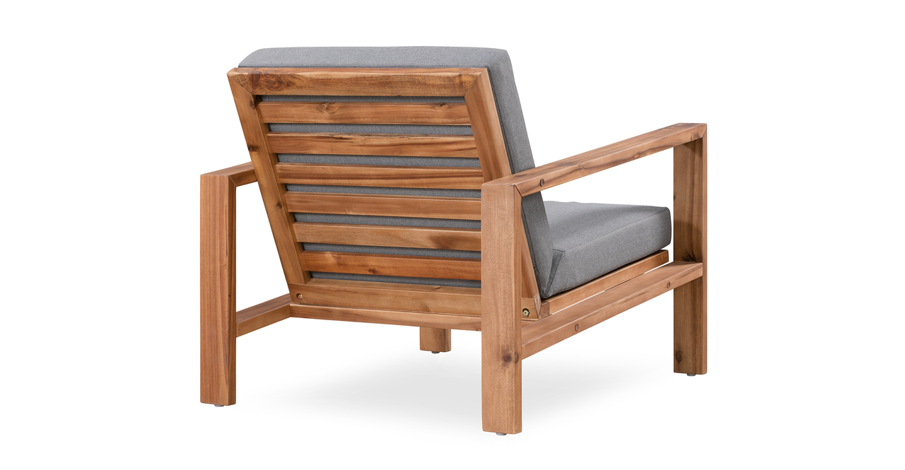 Aegean 2-pc Solid Wood Outdoor, Light Grey