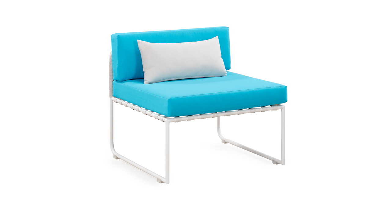 Curbed Outdoor Warbie 11-pc set, Turquoise/White