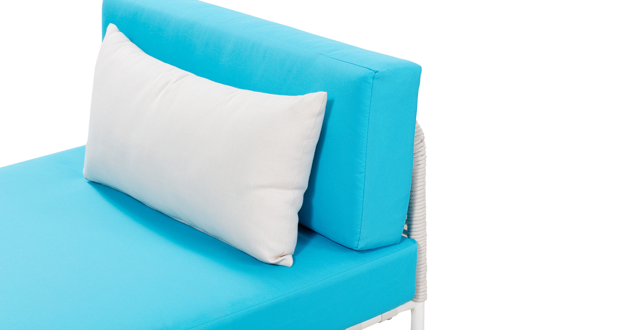 Curbed Outdoor Glaston 9-pc set, Turquoise/White