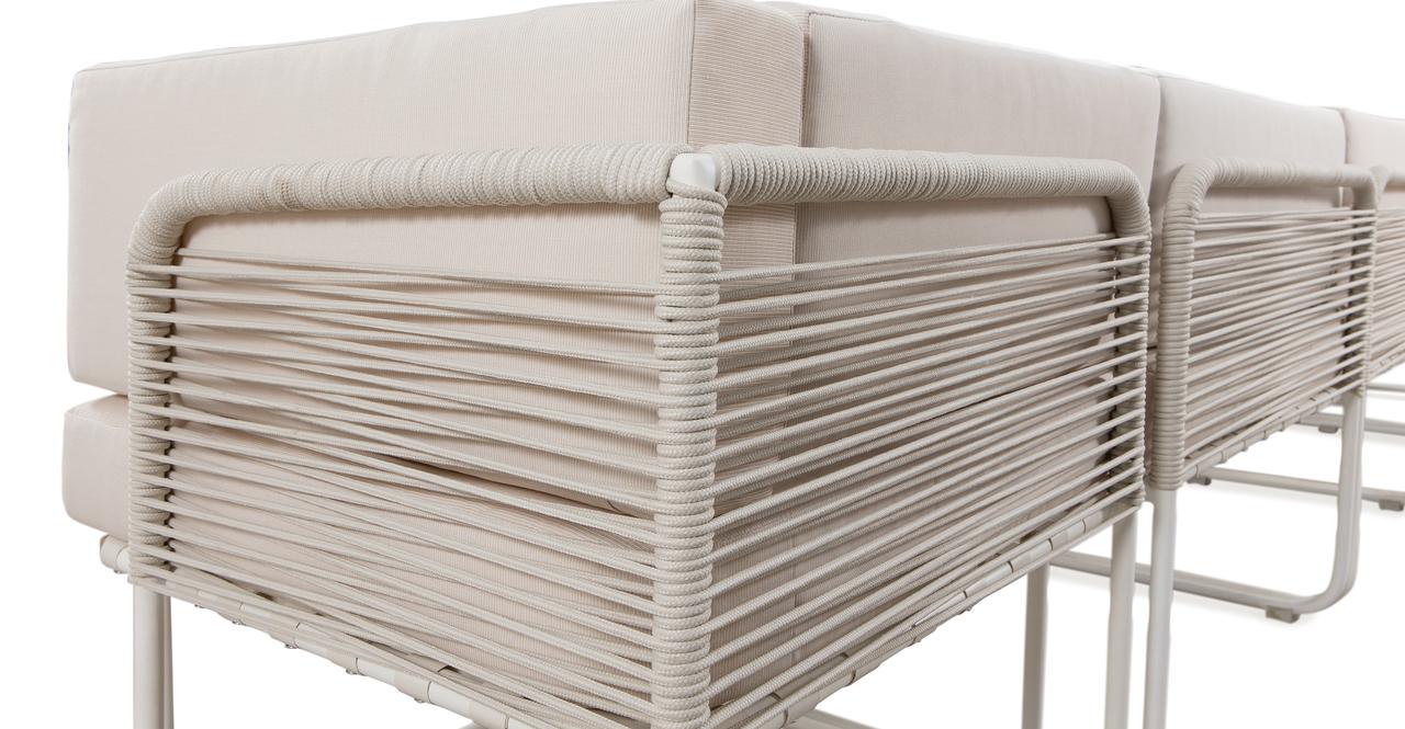 Curbed Outdoor Solstice 13-pc set, Cream/White