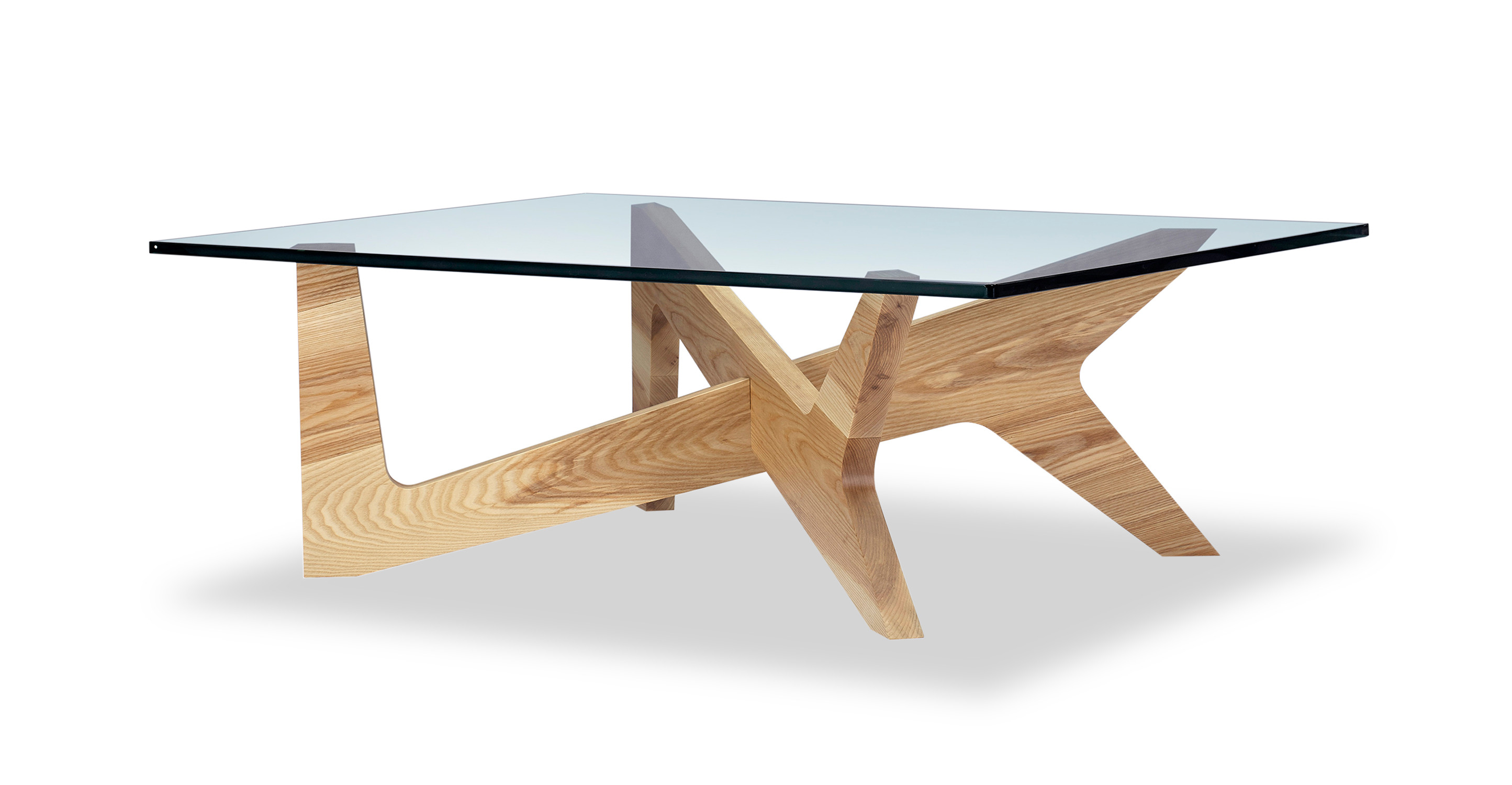 "Crossbow 43"" Coffee Table, Ash"