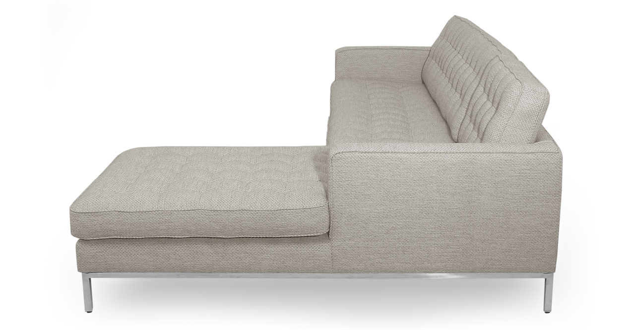 "Florence 101"" Fabric Right Sectional, Neutra Twill"