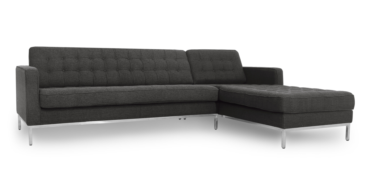 """Florence 101"""" Fabric Right Sectional, Niemeyer"""