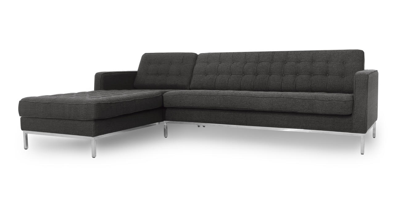 """Florence 101"""" Fabric Left Sectional, Niemeyer"""