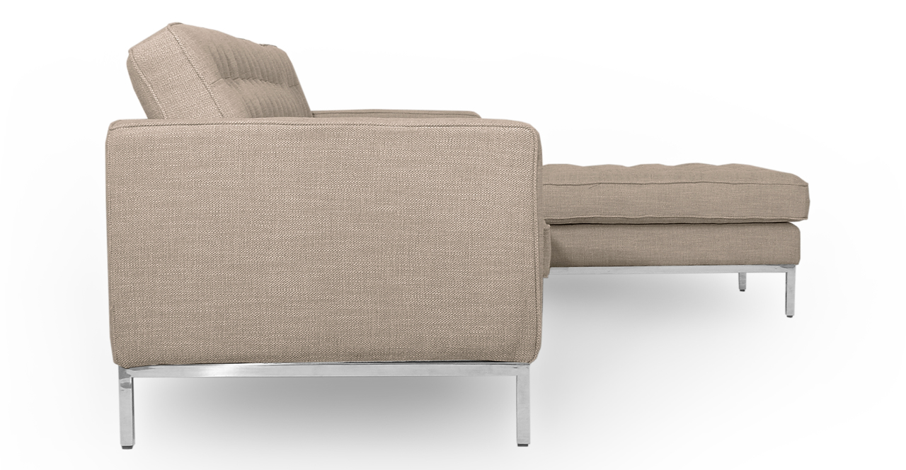 """Florence 101"""" Fabric Right Sectional, Renewal Twill"""