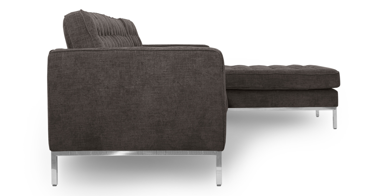 "Florence 101"" Fabric Right Sectional, Steel Twill"