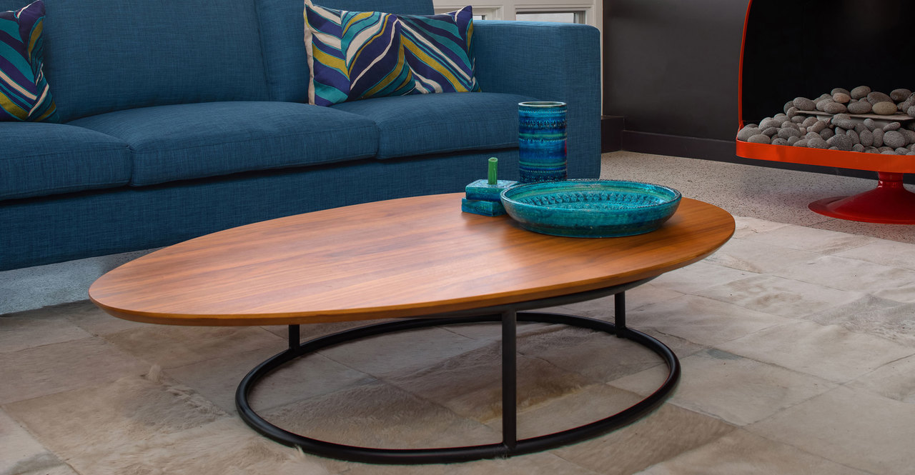 Crescent Coffee Table, Walnut